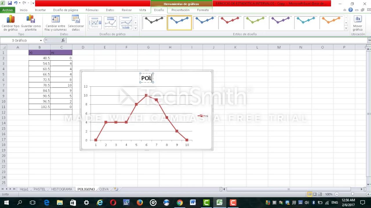 Como Hacer Graficos En Excel Pastel Histograma Poligono