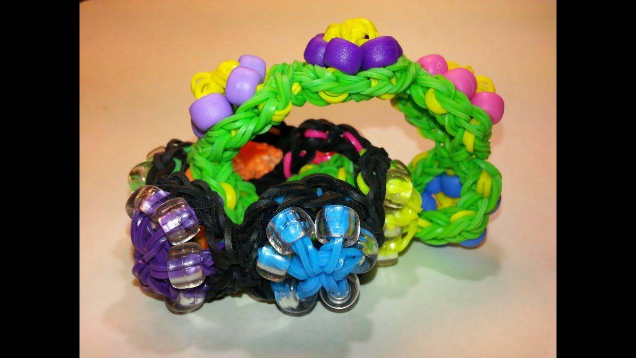 Beaded Wagon Wheel Tutorial by feelinspiffy (Rainbow Loom)