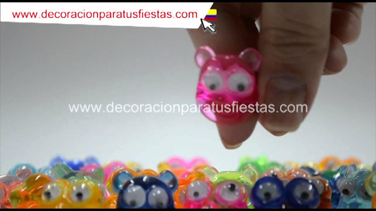 Anillos ojos de plasticos para niñas piñatas o fiestas