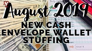 Cash Envelope Stuffing August 2019 | Dave Ramsey Inspired | Real Numbers | NEW Cash Envelopes System