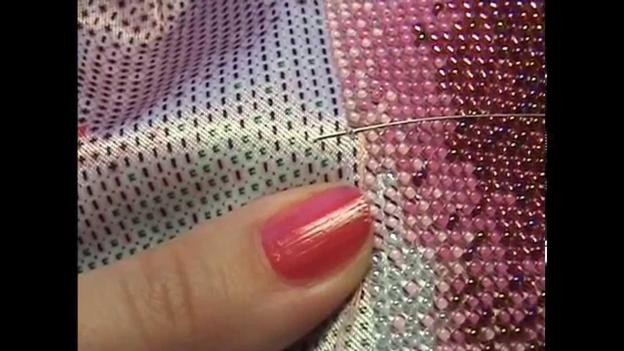 Вышивка бисером в две нити или в одну