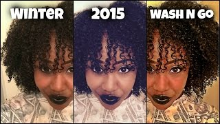 My WINTER 2015 Wash and Go [Kinky Curly Hair]