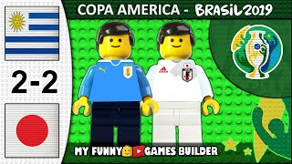 Uruguay vs Japan 2-2 • Copa America 2019 Brasil (20/06/2019) All Goals Highlights Lego Football Film