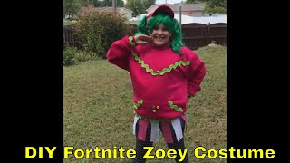 Fortnite Zoey Skin in Real Life - Easy Fortnite Costume Cosplay