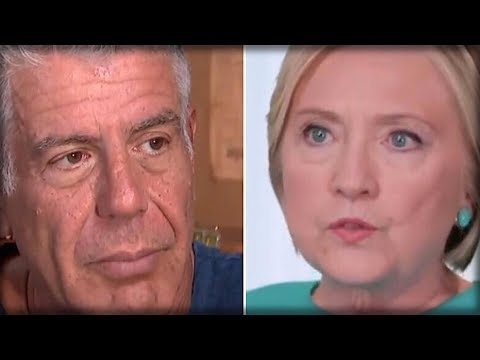 ANTHONY BOURDAIN JUST RIPPED OFF HILLARY'S MASK AND SHOWED THE WORLD WHO SHE REALLY IS