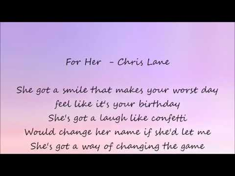 For Her - Chris Lane Lyrics
