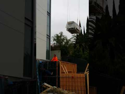 Stainless steel spa crane installation - Beverly Hills, CA