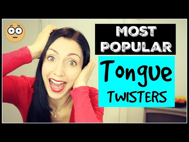 Most Popular English Tongue Twisters   IMPROVE YOUR ENGLISH with Anna English