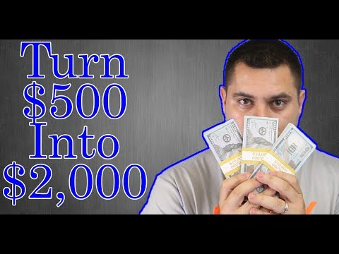 How To Turn $500 Into $2000 In One Month - How To Become Rich