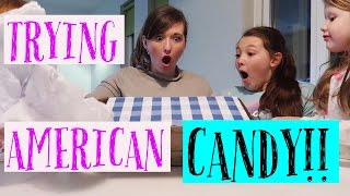 TRYING AMERICAN CANDY  SWAP BOX COLLAB!