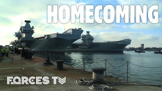 HMS Queen Elizabeth And HMS Prince Of Wales Together For The FIRST TIME | Forces TV