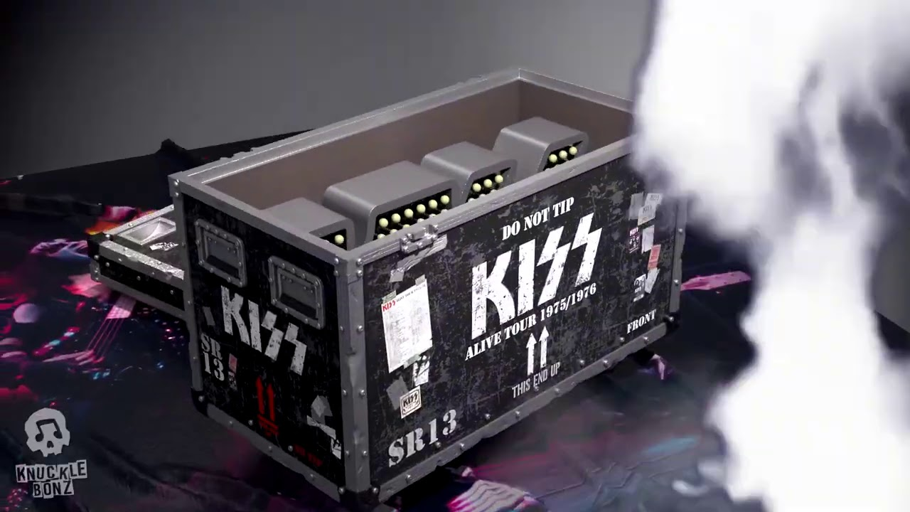 """KISS Alive! Road Case - KnuckleBonz """"On Tour"""" Collectible"""
