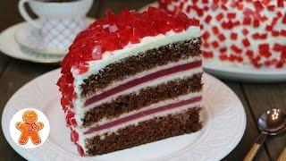 """Торт """"Рубиновый"""" очень эффектный, оригинальный и вкусный ✧ """"Ruby Emerald"""" Cake (English Subtitles)"""