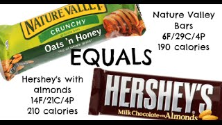 Equals & Alternatives Episode 29: Nature Valley Granola Bar And Hershey's Chocolate Bar