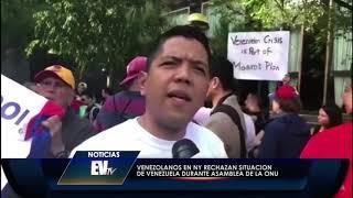Vzlanos en NY rechazan a Maduro en la ONU y embajadora Nikki Haley presente- EVTV 09/27/18