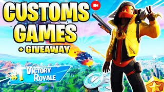 🛑LIVE DE FORTNITE PS4| CUSTOMS GAMES DUOS E GIVEAWAY 1000 V-BUCKS|#213 #FORTNITE #5K