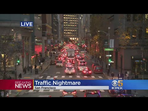 San Francisco Commuters Face Gridlock Downtown