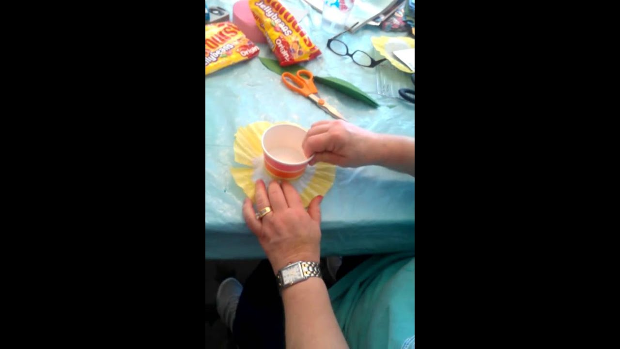 Easter Craft Coffee Filter Flower Cups Youtube