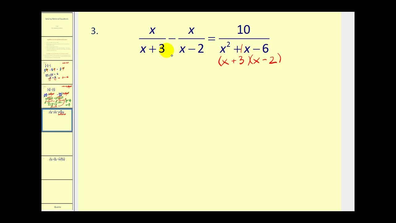 Download Solving Rational Equations