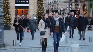 Paris during Christmas. Glamour, glitz, style and fashion in the City