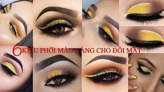 6 Kiểu Phối Màu Vàng Cho Đôi Mắt Nóng Bỏng - Yellow Eyes Makeup / Hùng Việt Makeup