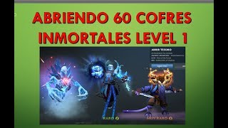 Abriendo 60 Cofres Inmortales Level 1 TI8