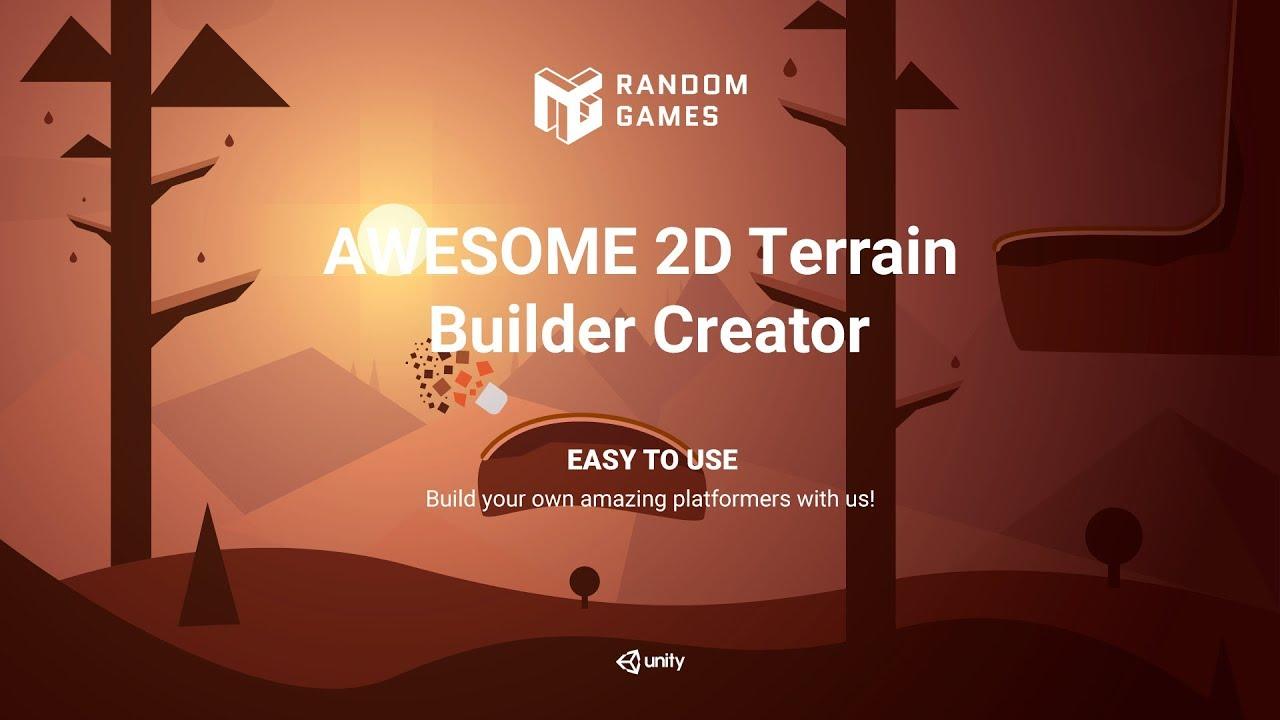Awesome 2D Terrain Creator Trailer | Unity Assets | Random Games