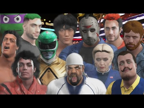 30 MAN CELEBRITY ROYAL RUMBLE | WWE 2K17