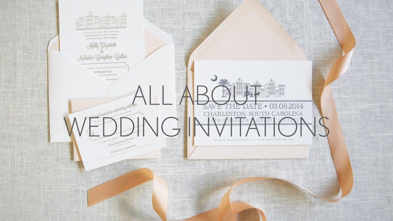 Wedding Invitations 101 - YouTube