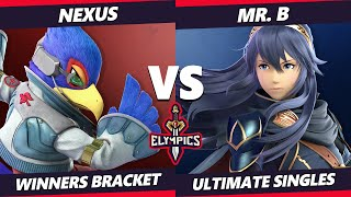 The Elympics SSBU - Nexus (Falco) Vs. Mr. B (Lucina) Smash Ultimate Winners Bracket