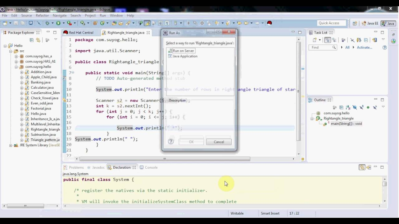 How to make right angle triangle in java youtube how to make right angle triangle in java ccuart Choice Image