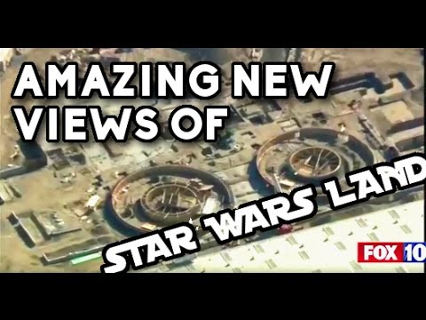 ALL NEW AMAZING OVERHEAD VIEWS of Star Wars Land - w/commentary | 04/04/17