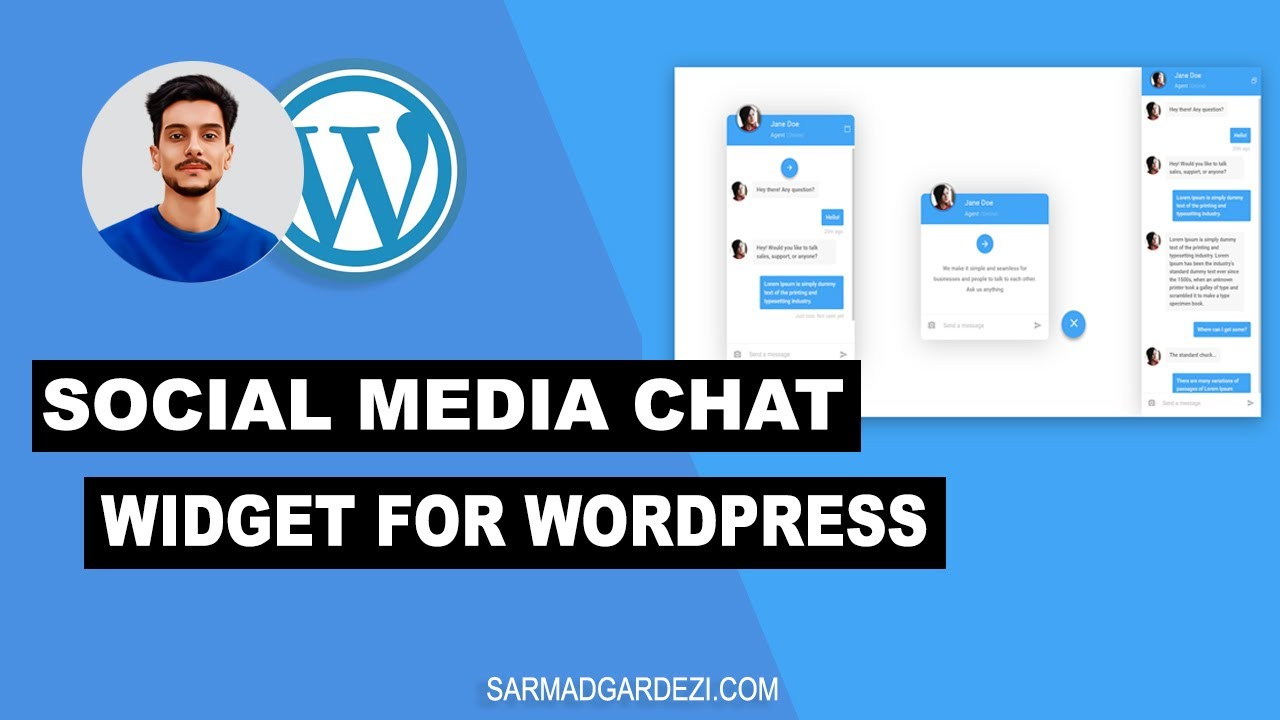 Add Chat Widget of Social Media Apps in WordPress Website