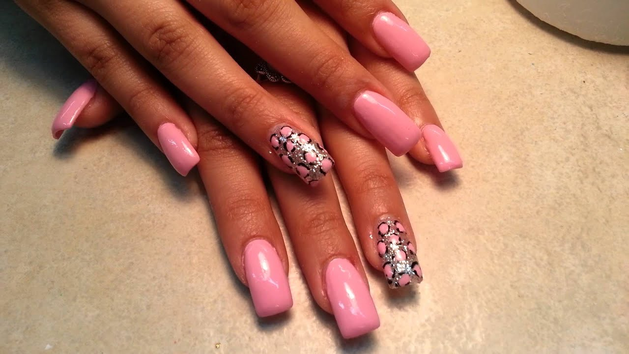 How Pretty Simple Acrylic Nails Designs. - YouTube