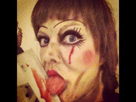 Trucco Annabelle Halloween.Annabelle The Conjuring Bambola Assassina Tutorial Trucco Horror Halloween Ita