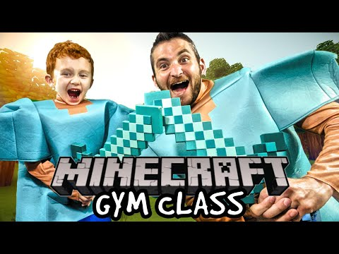 Kids Workout! MINECRAFT GYM CLASS! Real-Life VIDEO GAME! Kids Workout Videos, DANCE, & P.E. FUN!