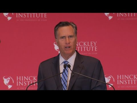 Mitt Romney full speech: Donald Trump must not become President