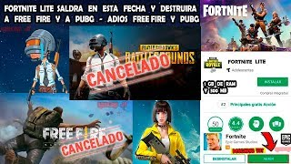 FORTNITE LITE SALDRA ON THIS DATE AND DESTRUCTS FREE FIRE AND PUBG - ADIOS FREE FIRE AND PUBG