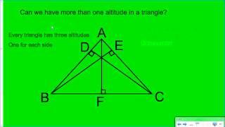 Median & Altitude