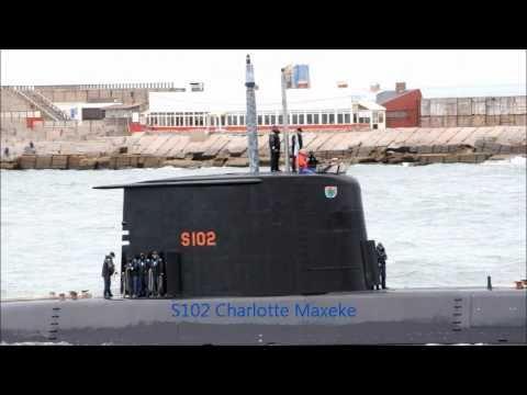 Submarine S102 Charlotte Maxeke South Africa Navy  Atlasur VIII  Mar del Plata Argentina