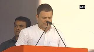 Rahul Gandhi addresses rally in Telangana's Nirmal