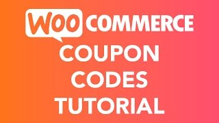 Coupon Codes Tutorial   WooCommerce