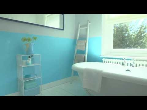 Bathroom ideas:  Using Marine Splash - Dulux