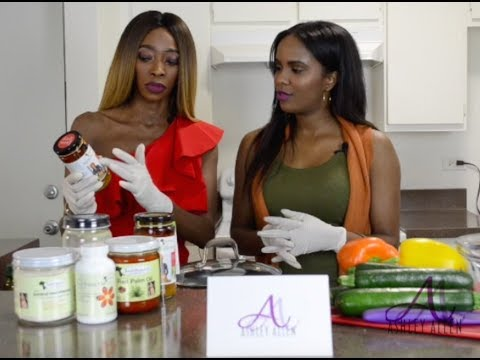Juka Ceesay Of Juka's Organic Cooks Red Palm Oil Sauce With Ashley Allen Media