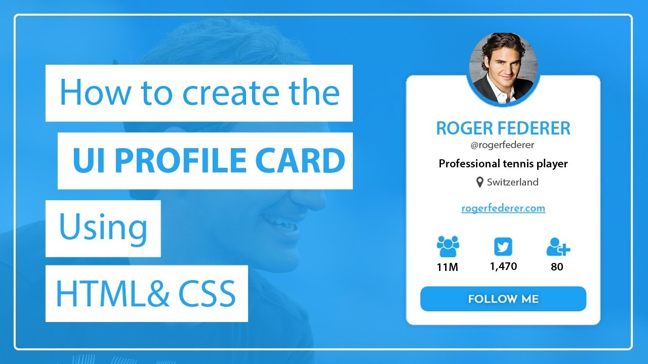And Design Card Create Css To Profile The Using How Youtube - Ui Html