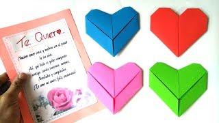 Cómo doblar tus cartas como un corazón - Fold your cards like a heart