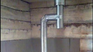 видео Как поменять трубу для печи в бане?