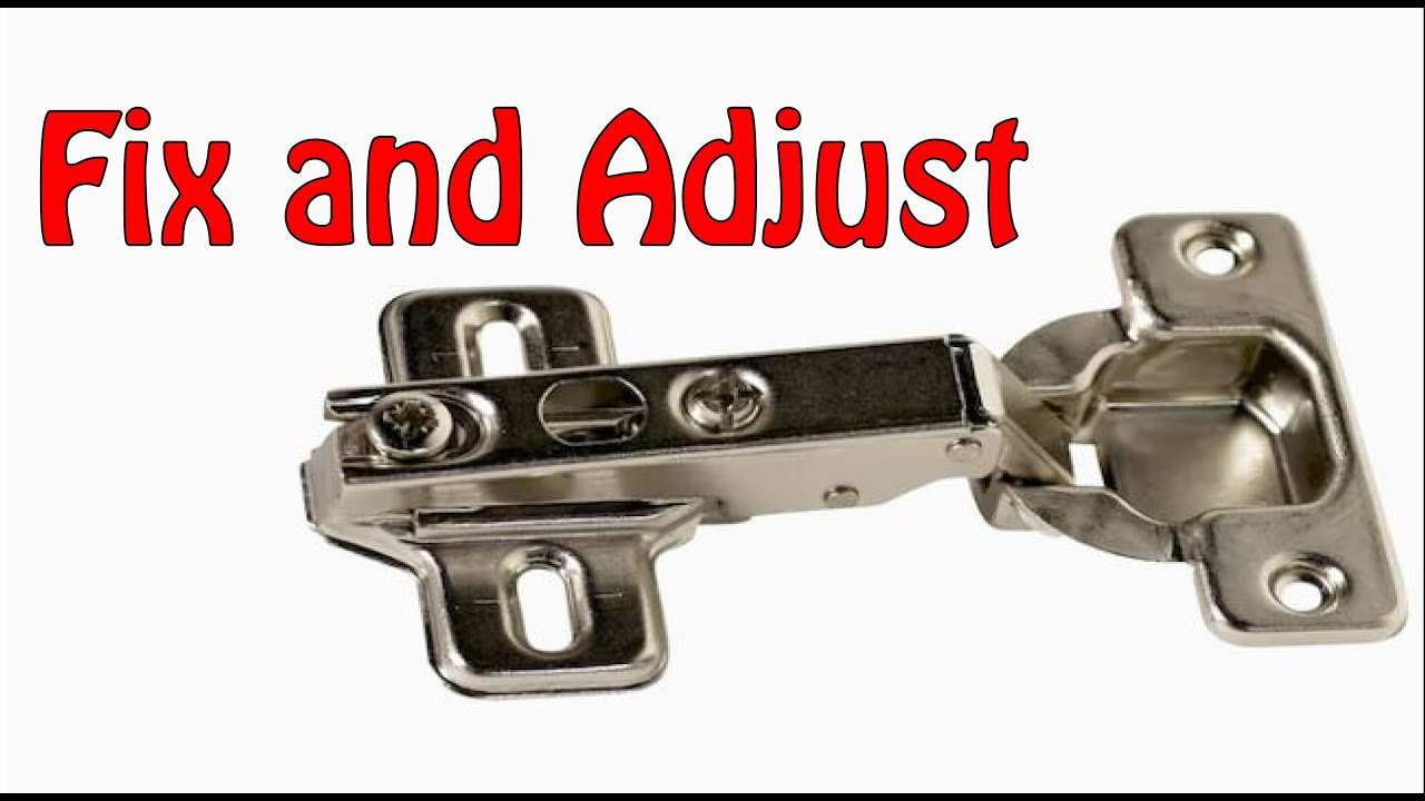 Fix And Adjust A Loose Or Cockeyed Kitchen Bathroom Cabinet Door That Will Not Close In 3 Minutes Youtube