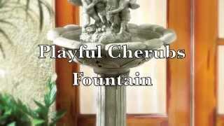 Playful Cherubs Garden Fountain - Ipn Gifts