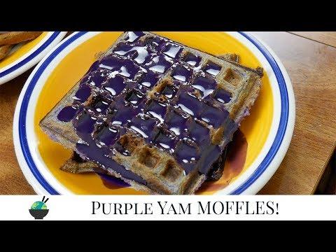How To Make Ube Mochi Waffles | Purple Yam Moffles Recipe